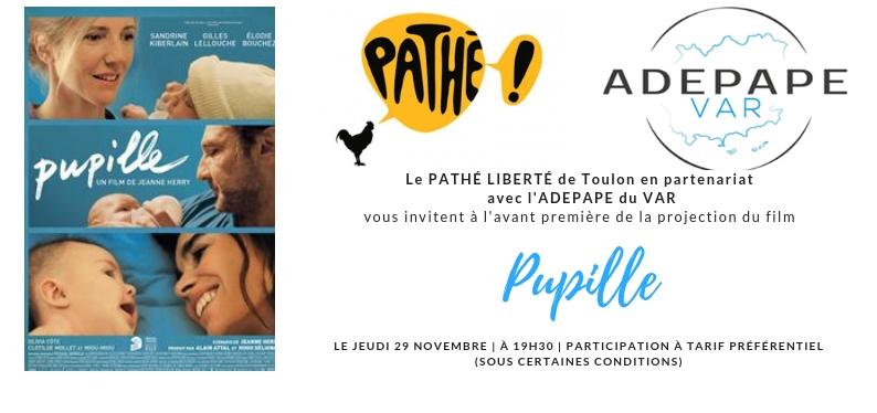 Avant Première du film Pupille en partenariat avec Pathé Liberté TOULON